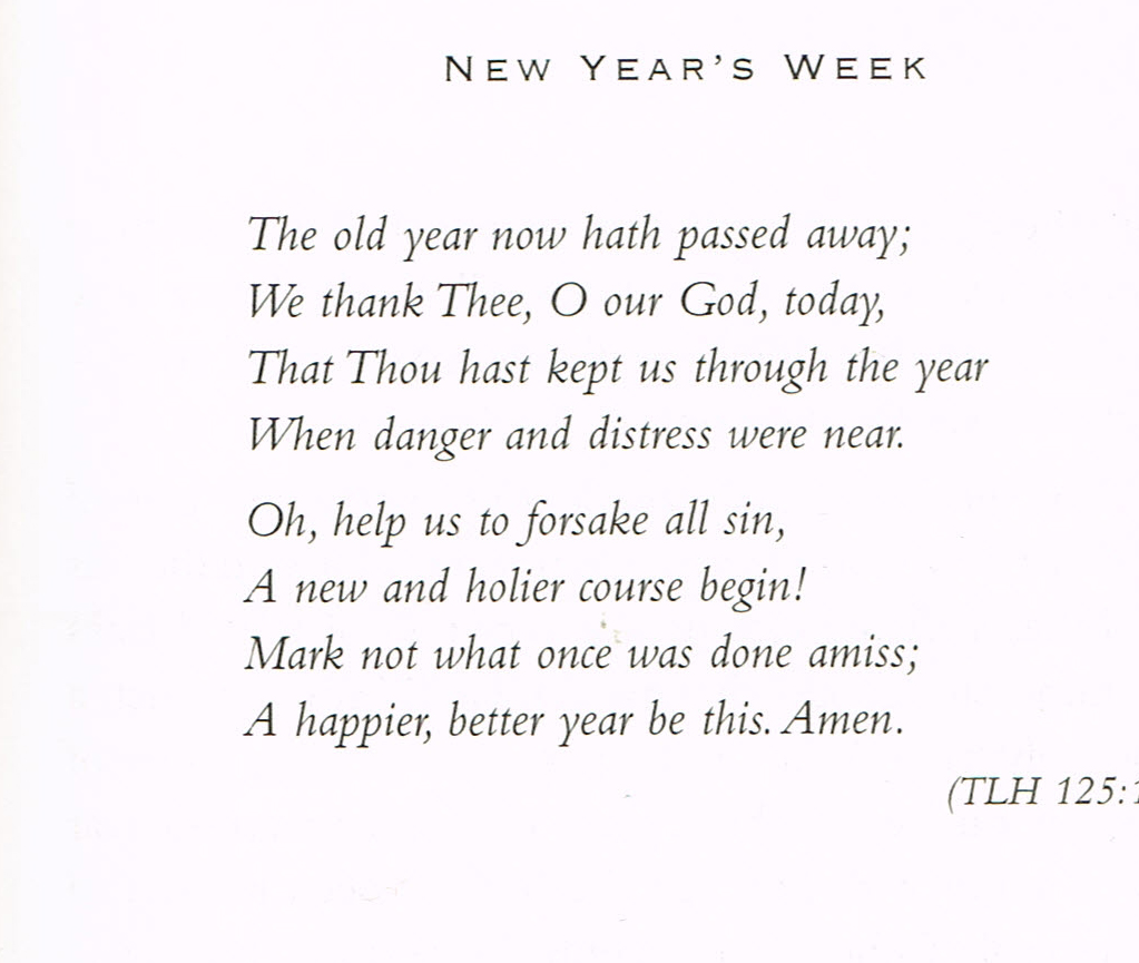 God Grant It — devotion for end of year by Walther | Grace Lutheran Church