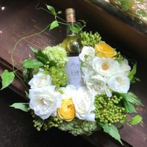 国産ワイン 花ギフト