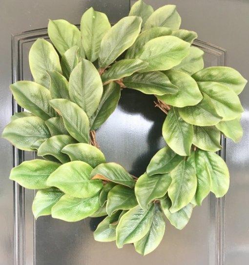 Farmhouse Style Magnolia Wreath