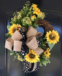 Sunflower Wreath for Door