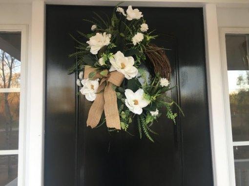 Magnolia Wreath for Door
