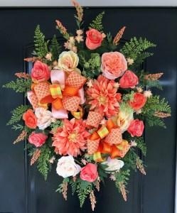 Front Door Wreath for Summer