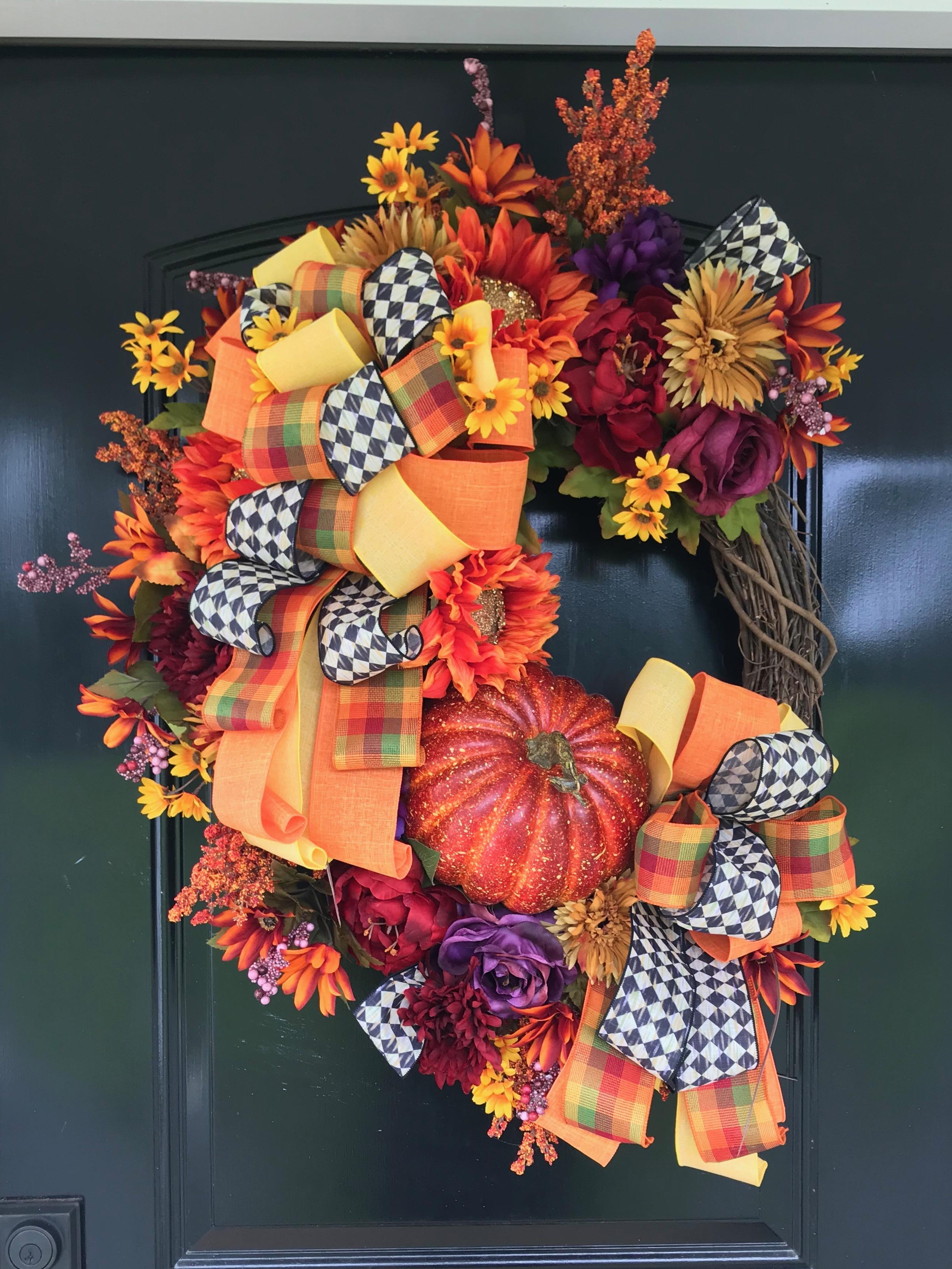 How to Make a Modern Fall Wreath | Grace Monroe Home