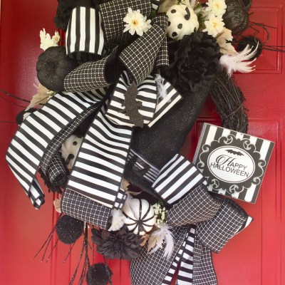 Halloween Wreath for Front Door