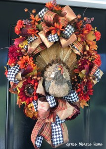 Turkey Wreath for Fall