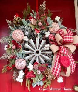 Farmhouse Wreath for Winter
