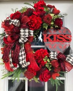 Front Door Wreath for Valentine's Day