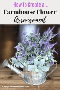 DIY Lavender Table Arrangement