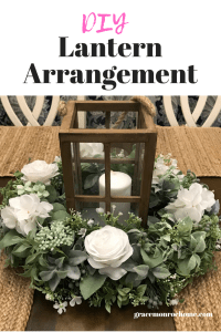 How To Make a Lantern Table Arrangement