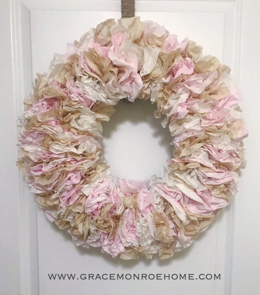 Make a Coffee Filter Wreath the Easy Way!
