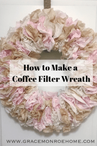 diy coffe filter wreath