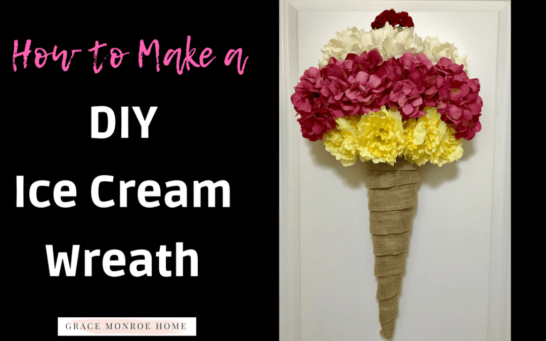 How to Make an Ice Cream Wreath