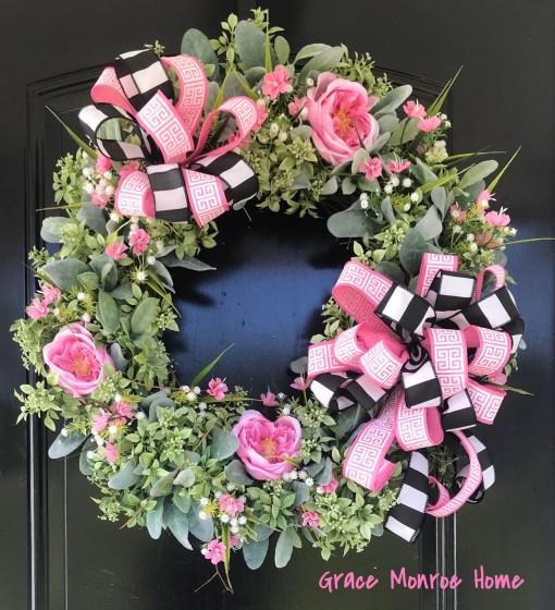 Front Door Wreath for Spring