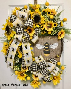 Bee Wreath by Grace Monroe Home