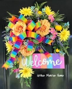 Designer Summer Wreath Tutorial