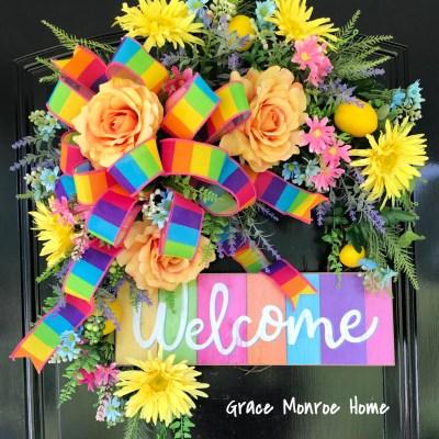 Designer Summer Wreath