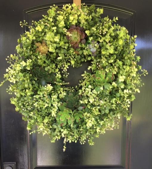 Succulent Wreath for Doors