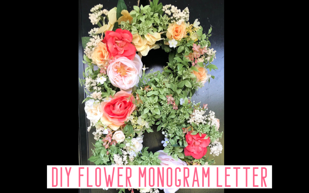 DIY Flower Monogram Letter Door Hanger