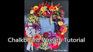 Chalkboard Wreath Tutorial