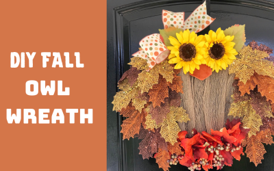 DIY Fall Owl Wreath