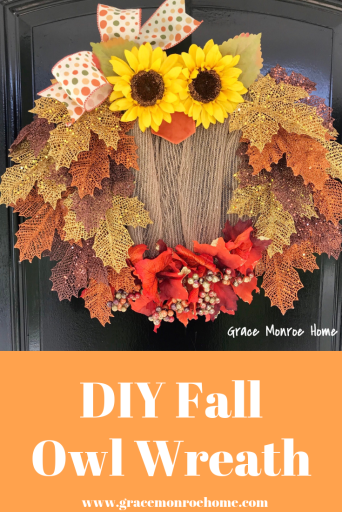 DIY Owl Wreath - Super Easy Fall Wreath to Make!