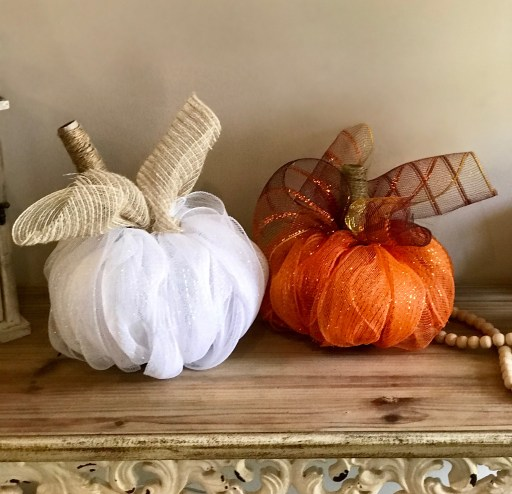 Easy Dollar Tree Deco Mesh Pumpkin