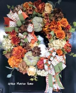Front Door Wreath for Fall