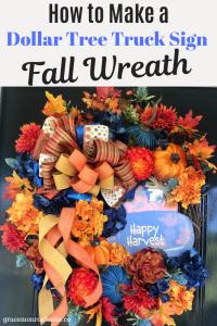 DIY Dollar Tree Truck Sign Fall Wreath