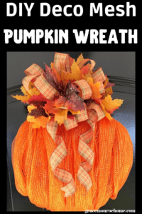 How to Make an Easy Deco Mesh Pumpkin Wreath