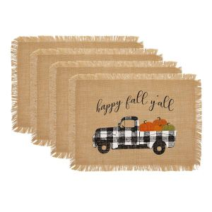 Fall Burlap Placemats - Affordable Fall Decor Ideas