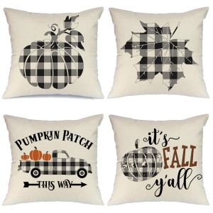 Affordable Fall Decor Finds - Buffalo Plaid Pillows