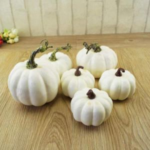 Faux White Decorative Pumpkins - Affordable Fall Decor Ideas