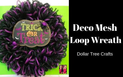 How to Make a Dollar Tree Wreath Using Deco Mesh Tubing