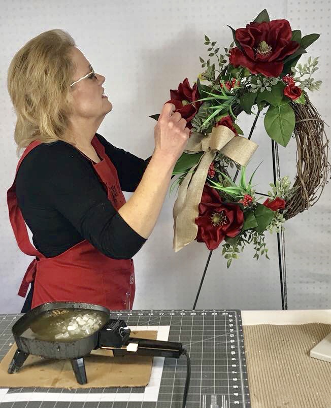 How to Make a Winter Wreath with Magnolias and Greenery