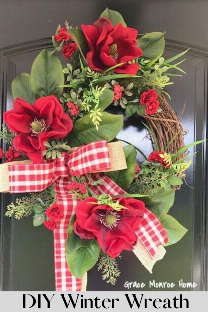 How to Make a DIY Winter Wreath - Farmhouse Style Decorating Ideas