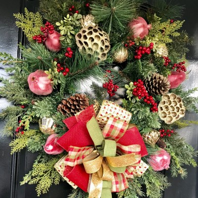Designer Christmas Wreaths by Grace Monroe Home