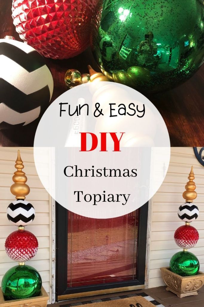 How to Make a DIY Christmas Ornament Topiary - So Easy!