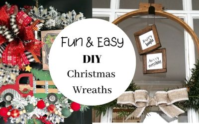 12 Easy DIY Christmas Wreath Ideas