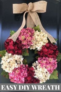 How to Make a Wreath with Hydrangeas