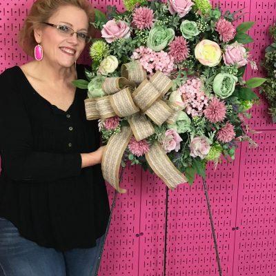 Elegant Spring Wreath for Door