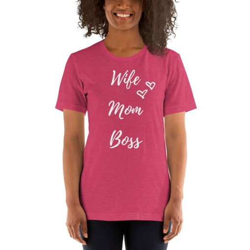 Pink Wife Mom Boss T-Shirt