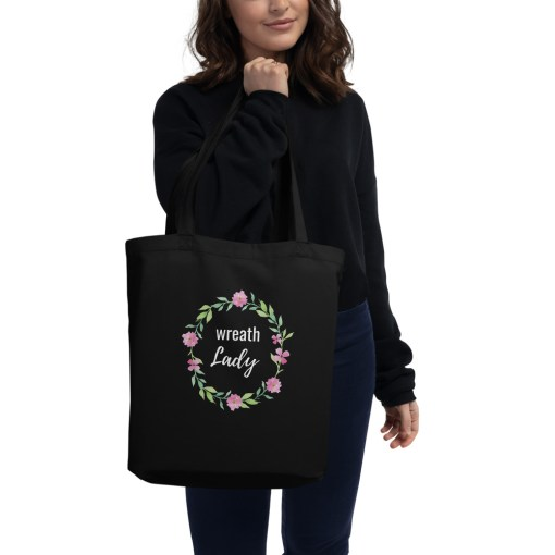 Black Wreath Lady Tote Bag