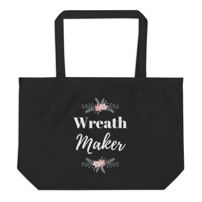 Black Tote Bag for Wreath Makers