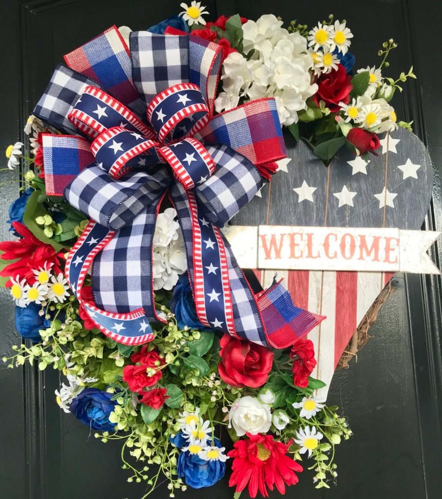 How to Make a Patriotic Wreath for Fourth of July, Memorial Day or Labor Day!