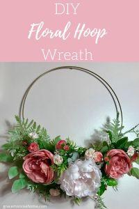 DIY Floral Hoop Wreath - So pretty and EASY to make! #wreath #modern #diy #wedding #decor #crafts
