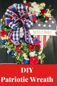 How to Make a Patriotic Wreath for Your Door