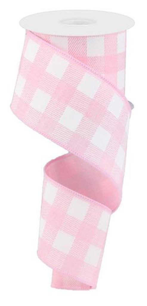 Best Pink Buffalo Plaid Ribbon for Spring