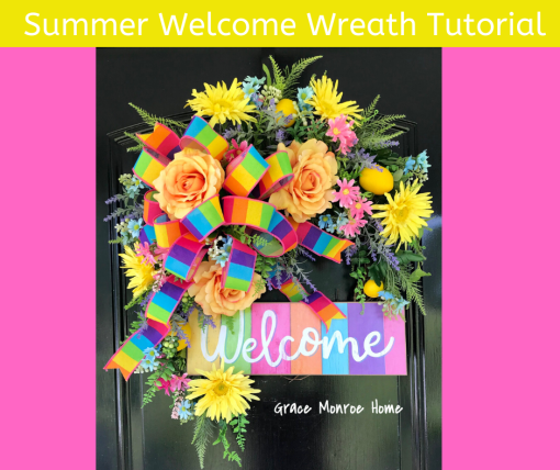 How to Make a Summer Floral Wreath