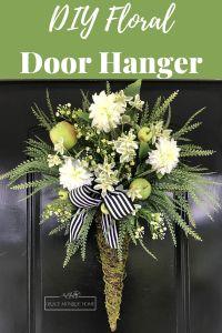 How to Make a Floral Door Hanger Tutorial