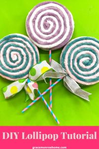Learn How to Make Cute and Super EASY Giant Lollipops